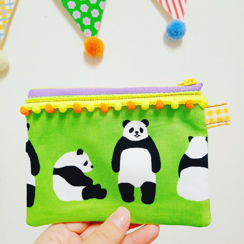 Lazy fat panda hand made purse ticket card package small bag