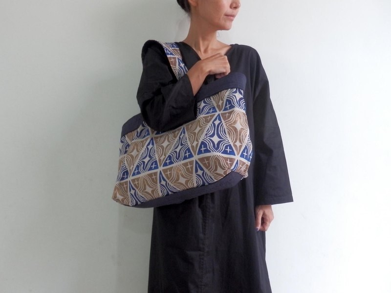 【Order Production】 Tote bag made from handle / Blue