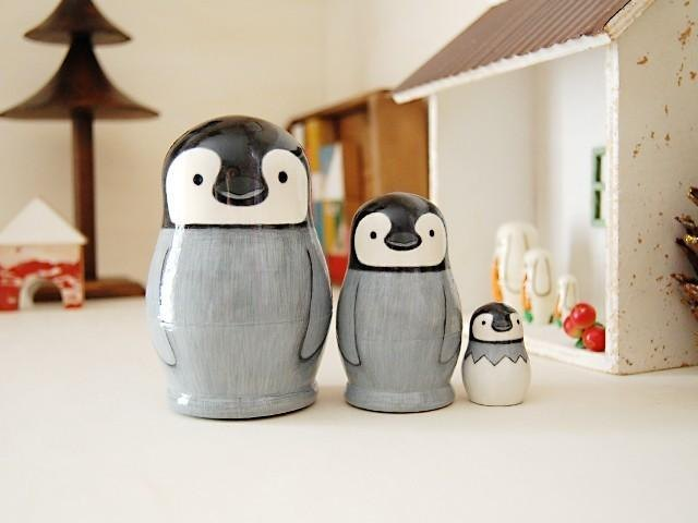 Penguin * Matryoshka * 3 brothers