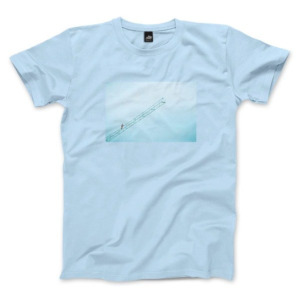 The place to heaven - water blue - neutral t-shirt