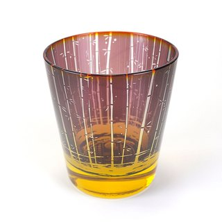 Bamboo forest and fireworks glass [Purple Dragonfly]