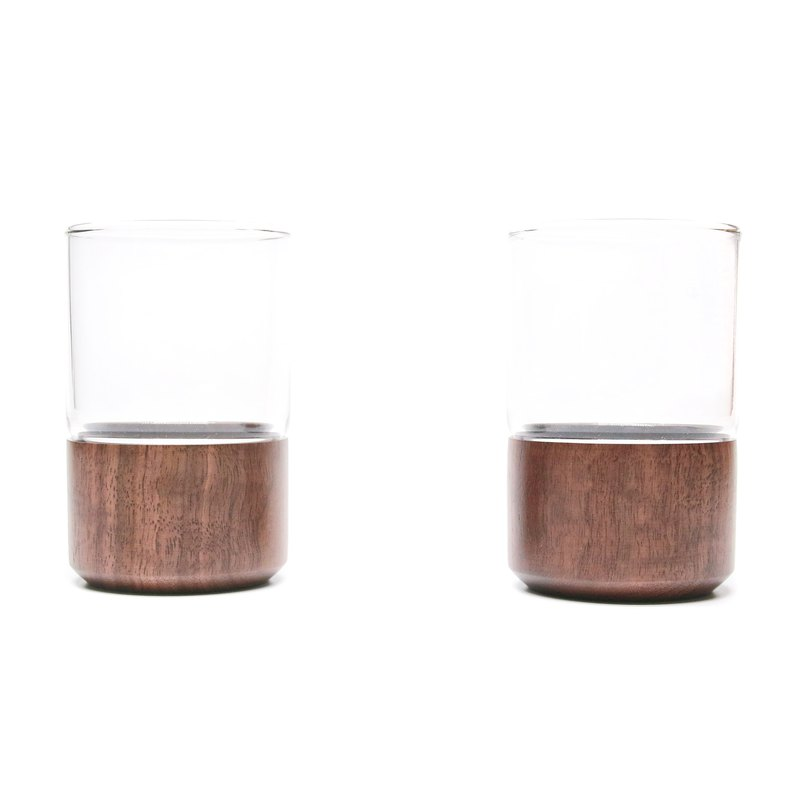 Two together  Wooden Cup-walnut