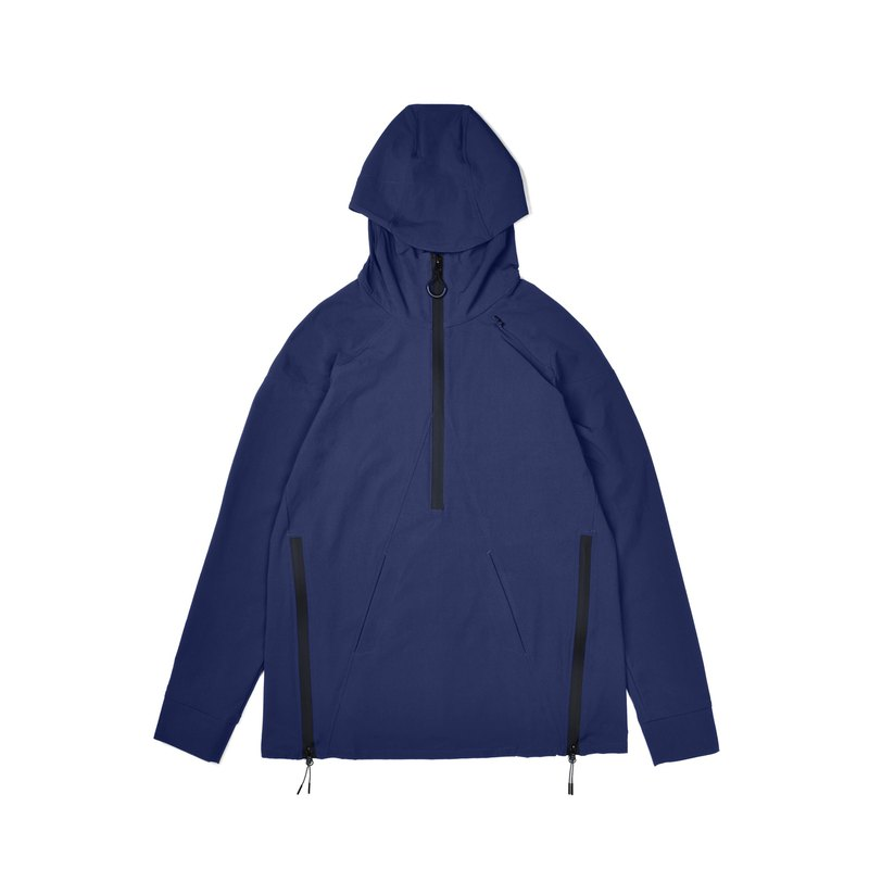 oqLiq - Display in the lost - Shan word Hoodie (blue)