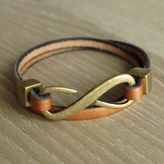 Fortunately Unlimited leather bracelet (gold bronze)
