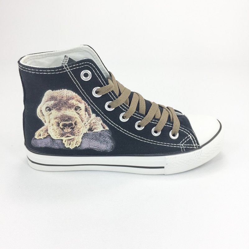 The Dog Authorized Dog - Canvas Shoes (Black Shoes) - AJ06