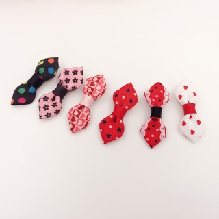 Red and black are small bows. Hair clip / bang clip