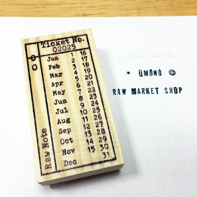 Raw Market Shop Wooden Stamp【Vintage Series No.42】