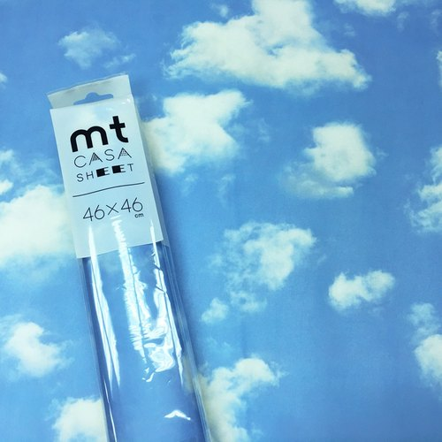 KAMOI mt CASA SHEET decorative wall stickers (L) 【Blue sky and white clouds (MT03WS4609)】