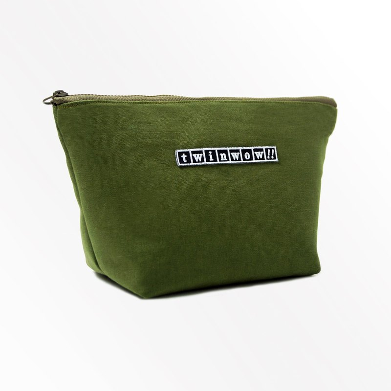 Intimate fashion - delicate texture cosmetic bag - matcha green