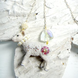 TIMBEE LO conjugated goat necklace flower crystal stone cute adorable Japanese style