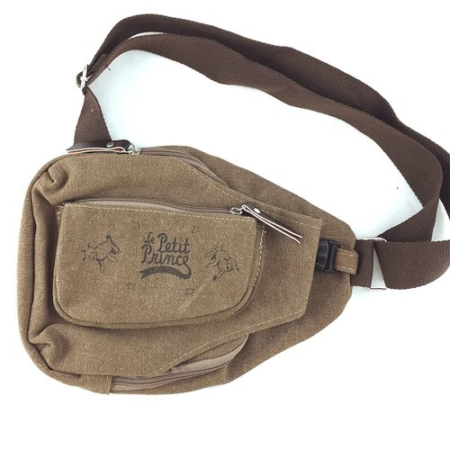 The Little Prince Classic authorization - [Messenger Bag - Coffee] (large)