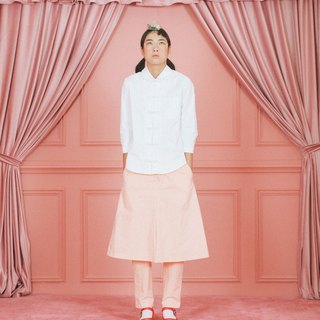 a-line pleat skirt with pants (unisex)