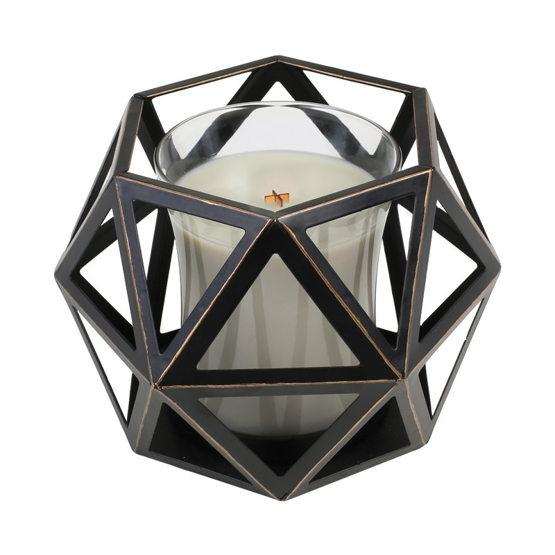 [WW] VIVAWANG fragrance candle accessories - Geometric wax metal cup holder -Medium