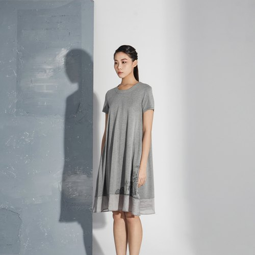 【In stock】Grey linen dress
