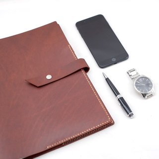 Be Two ∣ A4 loose-leaf leather handwritten notes / notes / loose-leaf / PDA / 30 hole iron clip / black / coffee