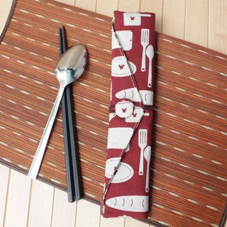 Adoubao-Chopsticks Setware Set - Crimson & Tableware