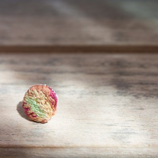 Croton embroidery earring n. /round