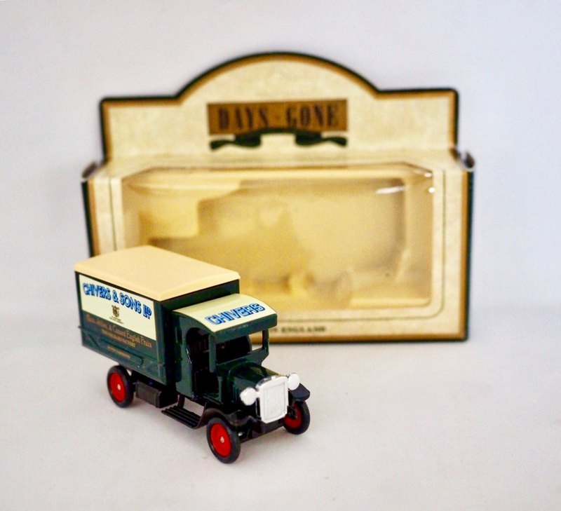 British olive green Danis truck wagon with original box