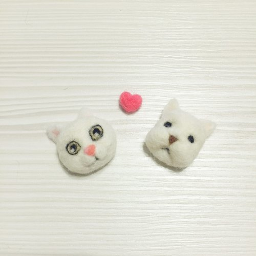 White cat & law hairpin / strap / pin (can be customized)