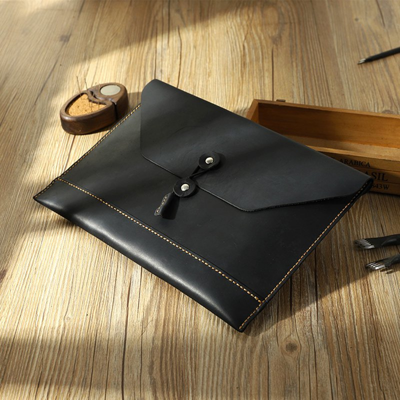 MISTER Handmade Leather Top Crazy Cowhide Leather Clutch/Envelope Bag/IPAD Genuine Leather Bag
