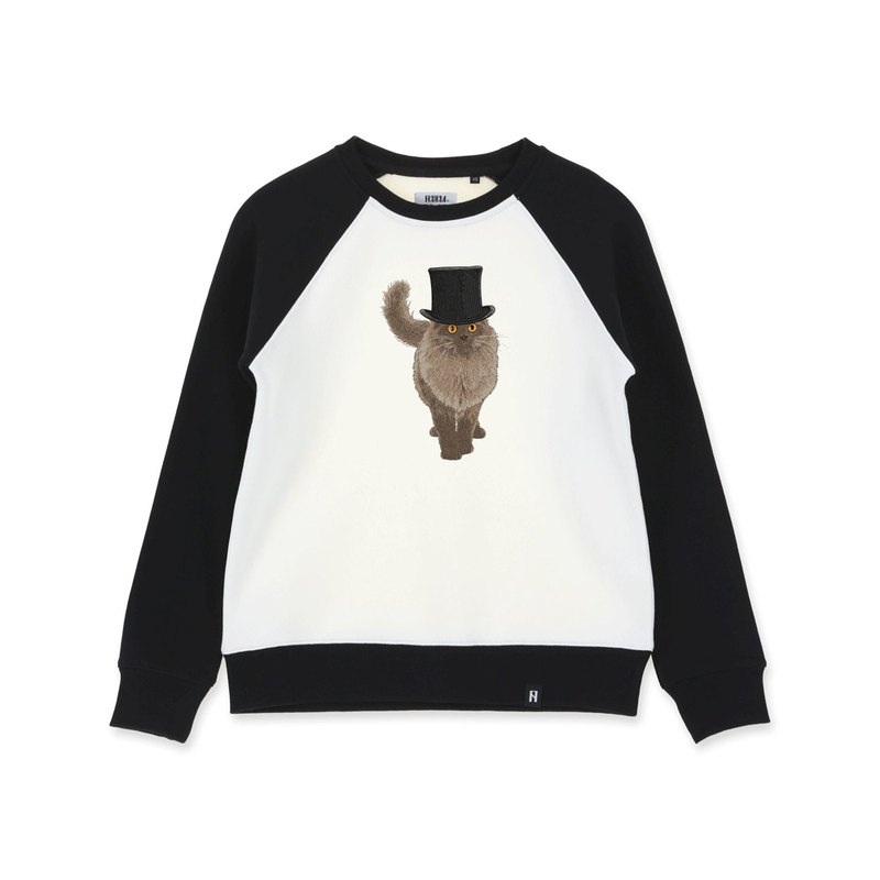 AMO  Original cotton adult Sweater /AKE/ The Cat In Gentleman's Hat