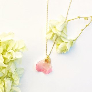 Rose Petal with Crystal Necklace