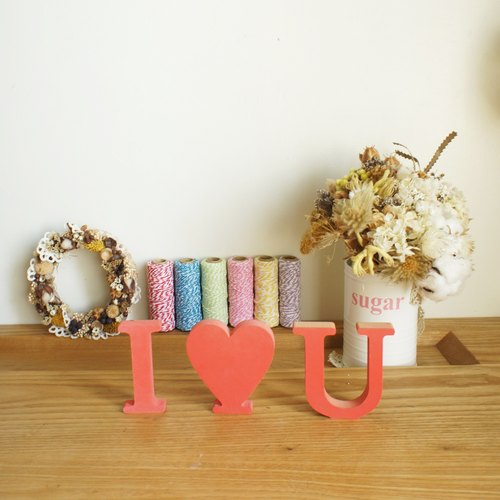 Wooden alphabet home decorations wedding props arranged wedding photography I LOVE YOU