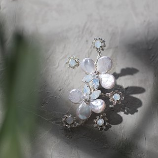 Handmade Jewelry Porcelain Chest Corsage - Bustling Dreams Empress's Dream