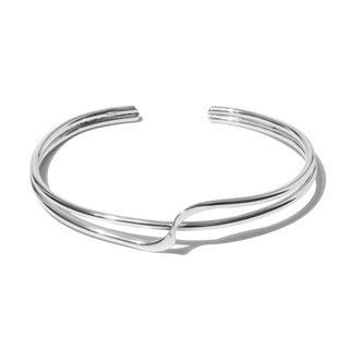 ■ CHIEH-CHIEH ■ Sterling silver double-line geometric design bracelet