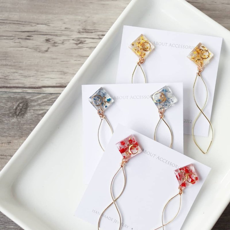 Eternal Flower Series - Xiaolingjiao Copper Earrings/Ear clips