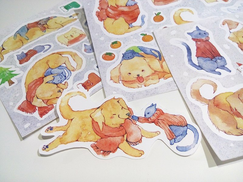Waterproof stickers with you / warm winter for dogs and cats
