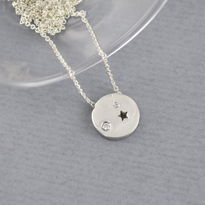Sterling Silver Planet Necklace