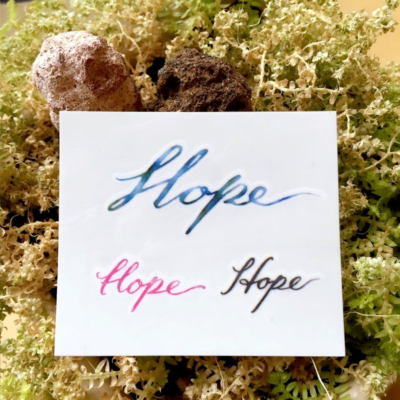 Minimal Watercolor Calligraphy Hope Lettering Temporary Tattoo Stickers fighting