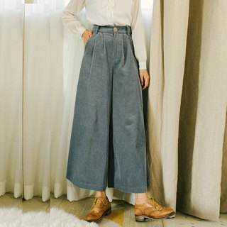 2018 autumn women's new solid color corduroy wide leg pants