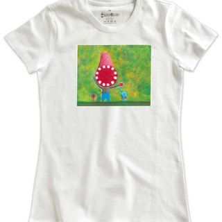Classic White Short-Sleeve T-Shirt_Hippo and Elephant (Female M Unsold)