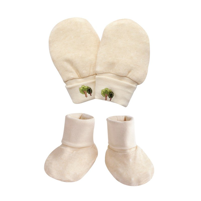 [SISSO organic cotton] organic cotton cool foldable gloves x foot sets