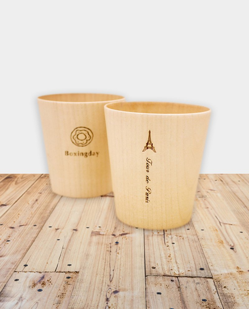 [small box] wooden cup / ray carving / gift / corporate gifts / graduation gifts / fresh gifts