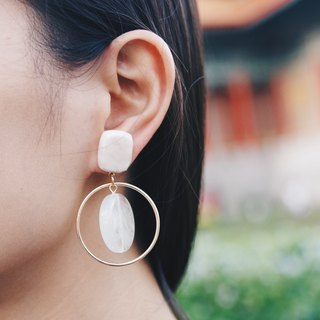 米方金圆坠 - Golden Drop Earrings Earrings [Changeable Ear Clips]