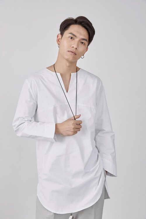 Small open collar lining shirt # 9082