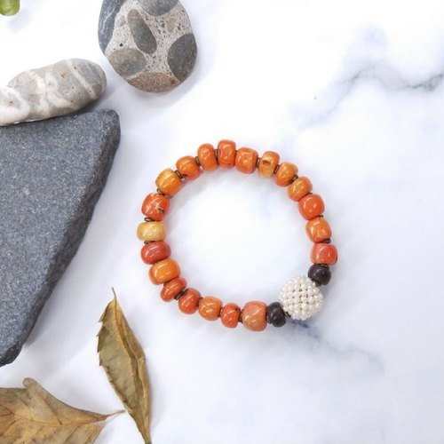 Bracelets. Sea bamboo*Pearl*lobular red sandalwood bracelets simple wild