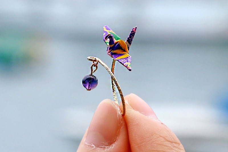 Mini cranes Crystal Ring (little sunsetting) - Valentine's Day gift