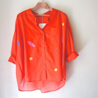 Yinke No. 2 Shirt - The warmest and most beautiful story of orange - puppy and love / rain, beach, puppy