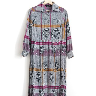 Vintage Garden Maze Vintage Long Sleeve Dress