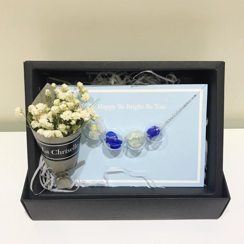 Dry Flower Preserved Flower Gift Box Necklace  Gift Birthday Bridesmaid graduati
