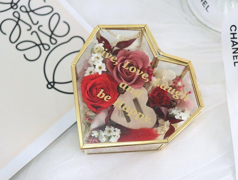 仿舊銅金戒盒 金屬雕刻字體 含禮盒 求婚 生日禮物 新婚禮物