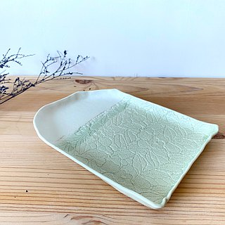 Ceramic plate (lace) - handmade (A)
