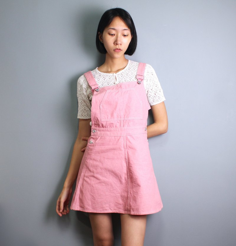 FOAK vintage Benetton Italian rose powder dress