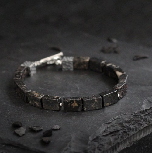 赤炼. Natural ore bracelet hematite vein will courage 925 sterling silver bracelet bracelet