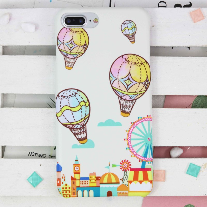 Hot Balloon Matt hard Phone Case for iPhone X 8 8 plus S8 S8 plus LG V30 Sony XP