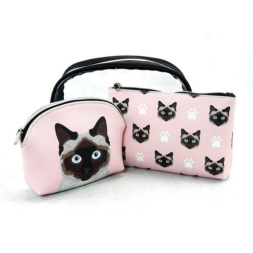 Siamese Cats Cosmetic Bags Set